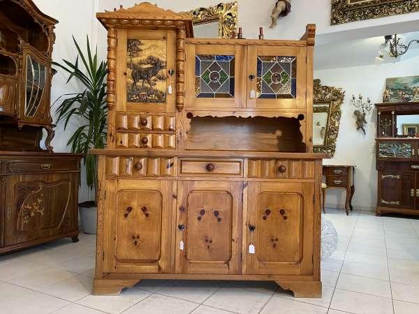 hübsche Zirbenholz Kredenz Küchenvitrine Küchenschrank E1789
