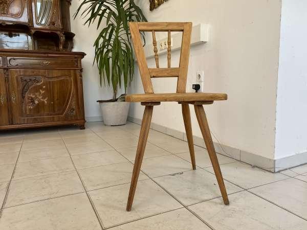 alter uriger Bauernsessel Sessel Stuhl Sprossenstuhl Brettstuhl E1655