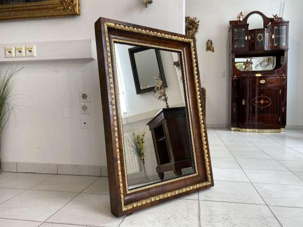 Biedermeier Spiegel Wandspiegel Original Nussholz Furniert A2685