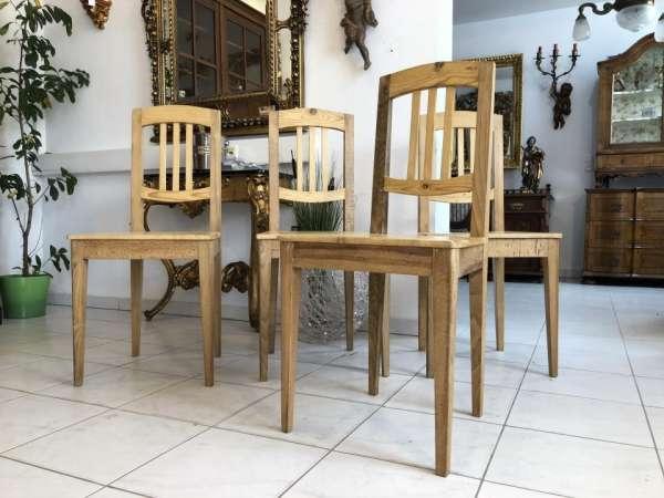 4 Stück Jugendstil Bauernsessel Bauernmöbel Fichtenholz Massivholz X1869