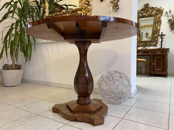 originaler runder Biedermeier Esstisch Tisch Klapptisch E2358
