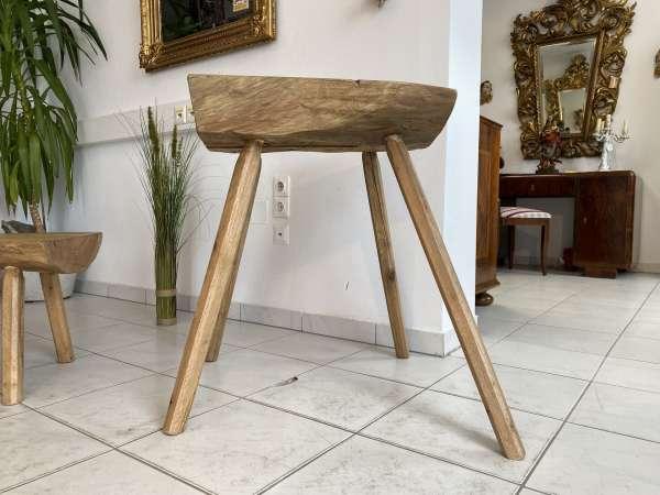 uriger Hacktisch Designer Tisch Bauerntisch Bauernmöbel Bank A2527