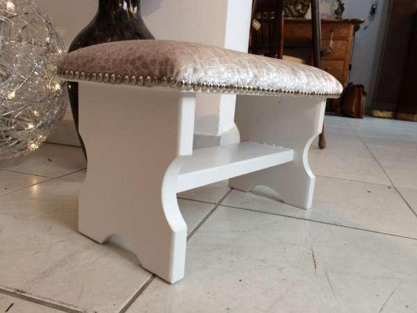 hübscher stilvoller Hocker Barockstil Sitzhocker Fusshocker Schemel - W1280