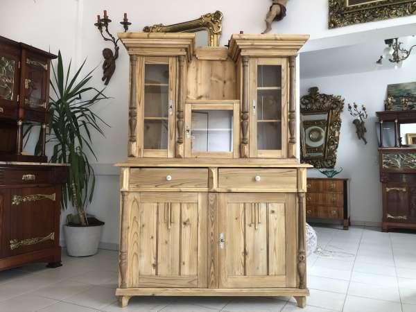 restaurierte Gründerzeit Küchenkredenz Küchenschrank Turmkredenz E1296