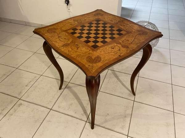 originaler Chippendale Spieltisch Tisch Schachtisch E2356