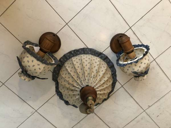 3 Stk. Voglauer Bauernlampen Hängelampe Wandleuchte Bauernmöbel X2014