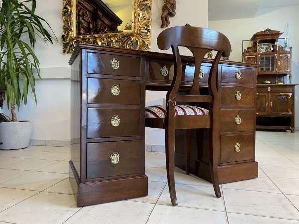 hübscher Englischer Sekretär Kolonial Stil Schreibtisch A2251