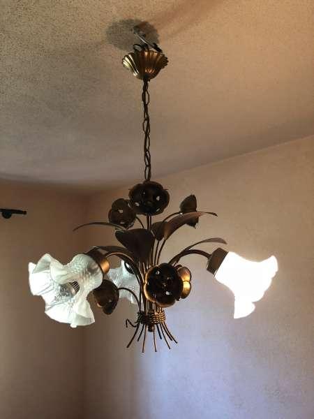 floraler Luster floraler Deckenleuchter Tulpenform X2395