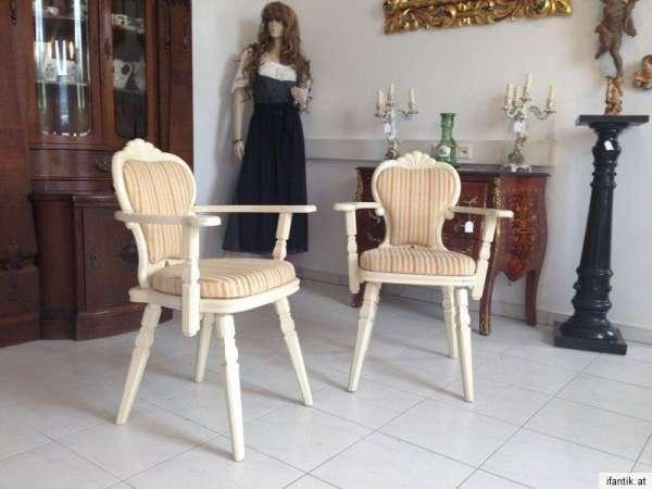 alte 2 Stk. Armlehnstuhl Barock Schreibtisch Sessel Stuhl - 6978