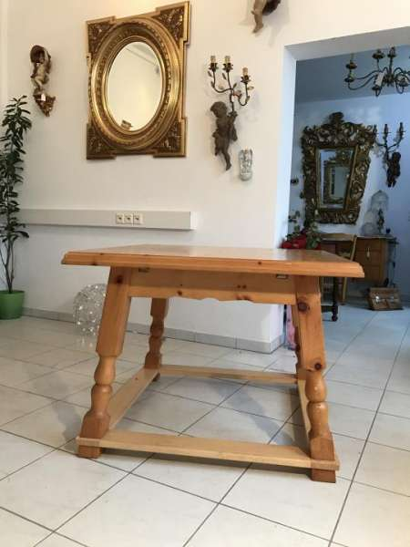 hübscher massiver Bauerntisch Tisch Zirbenholz Auszugtisch - W1416