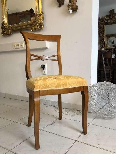 hübscher Stuhl Sessel Barockstil Brokatbezug Z1554