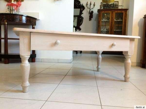stilvoller Couchtisch Tisch Glastisch Landhausmöbel Nr 7910