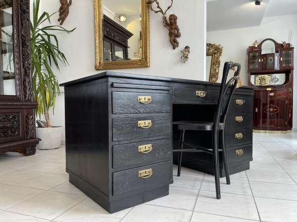 originaler Jugendstil Schreibtisch Sekretär Freisteher A2713
