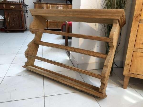altes Bauernregal Regal Stellage Tellerboard Board Naturholz X1615