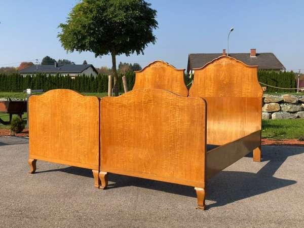 Original Art Deco Doppelbett Einzelbett floral geziert X2360