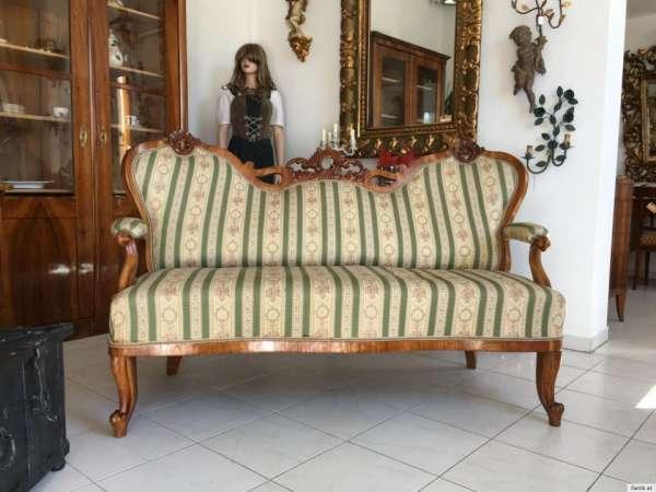 Grunderzeit Sofa Diwan Couch Liege Fledermaussofa A1381 Antike
