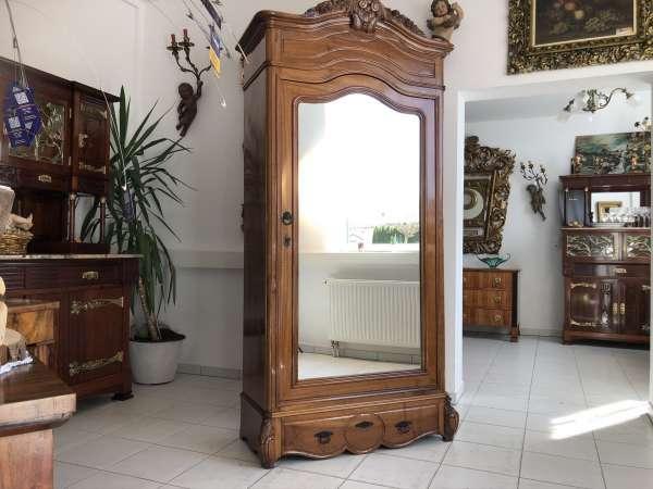 restaurierter Jugendstil Schrank Kleiderkasten Spiegelschrank E1317