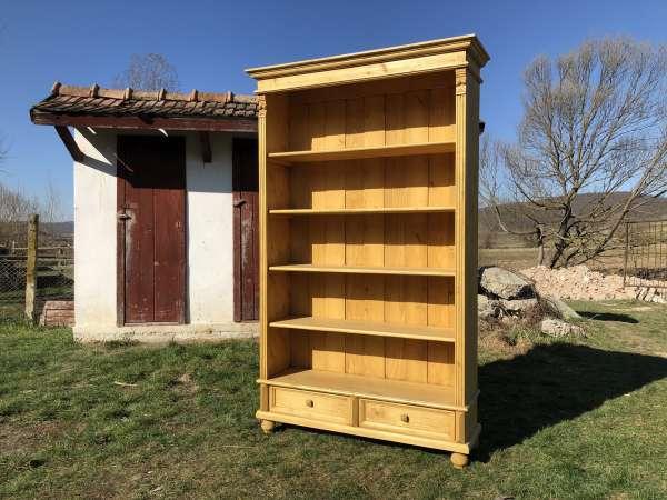 Bücherregal Stellage Gründerzeit Stil Bücherschrank Naturholz Ro1011