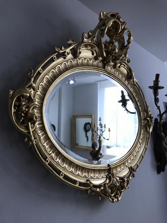 ovaler florentiner rahmen spiegel vergoldet original. Black Bedroom Furniture Sets. Home Design Ideas