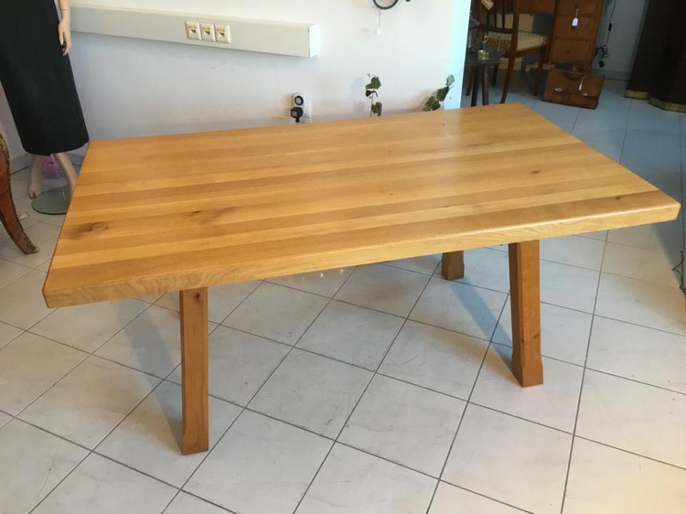 Massiver tafeltisch esstisch k chentisch eichenholz for Eichenholz esstisch