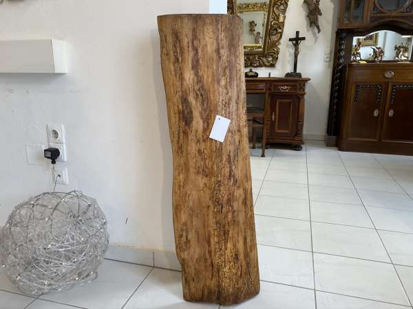 uriger Holzpfosten Tischplatte Altholz, Holzbrett, Regalbrett E2113