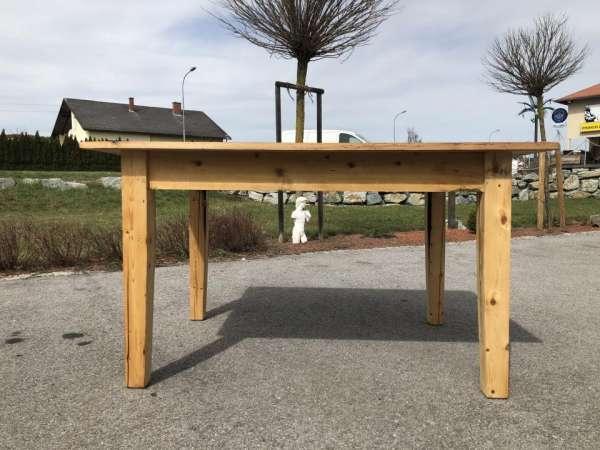 uriger Tisch Bauerntisch Jogltisch Landhaustisch Naturholz Brettholztisch 1,40m X1456