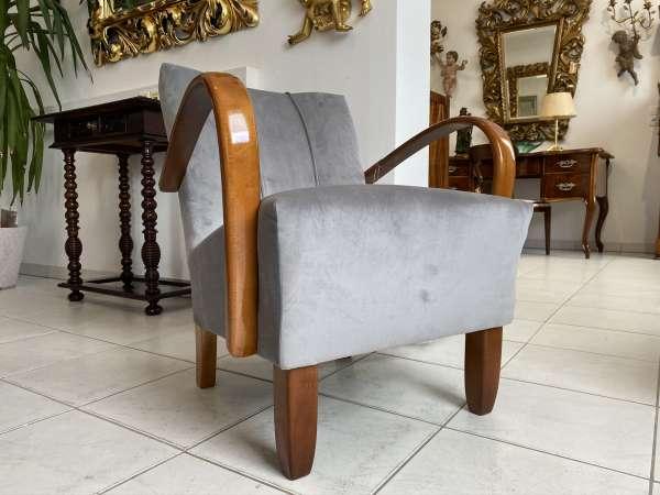 originaler Art Deco Fauteuil Armlehnstuhl Designersessel E1961