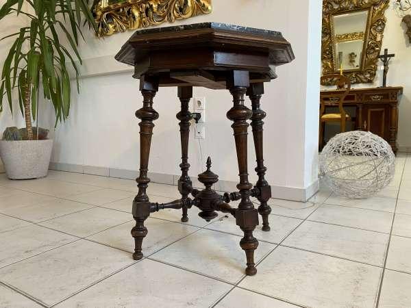 authentischer eckiger Gründerzeit Spieltisch Tisch Beistelltisch E2389