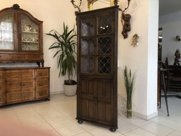 elegante Vitrine im Kolonialstil Eckvitrine Eckschrank Tiffany W1334