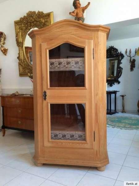 Vitrine Bauernmöbel Glasschrank Fichtenholz Nr.7715