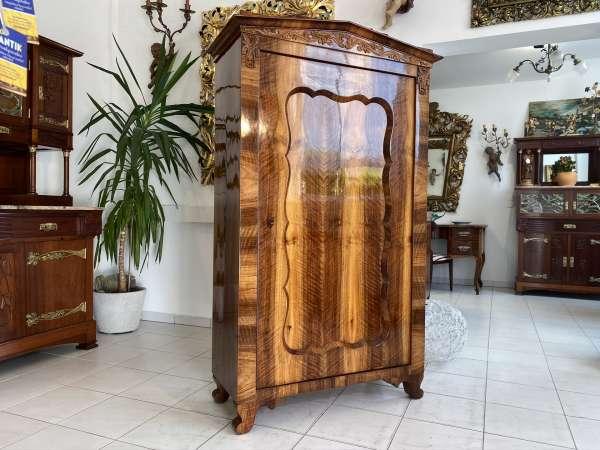 Original Biedermeier Schrank Kleiderkasten Nussholz Restauriert E1860