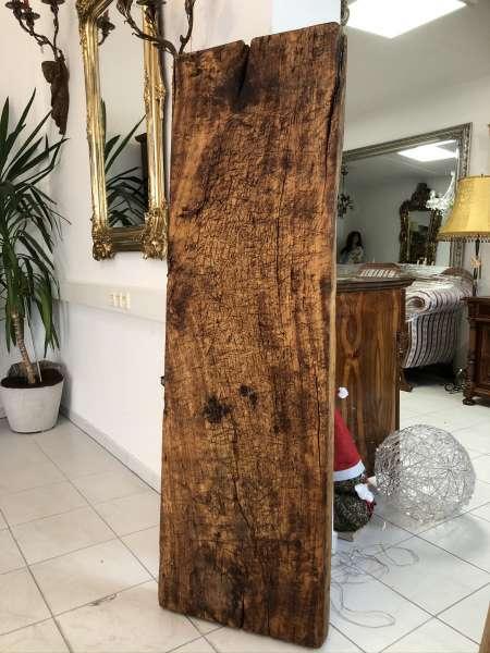 uriger Holzpfosten Tischplatte Altholz, Holzbrett, Regalbrett Z2326