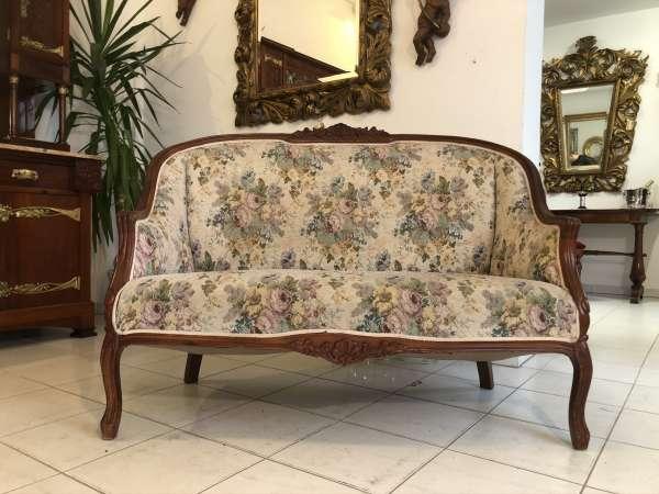 hübsches Sofa Couch Diwan Barockstil Stoffbezug E1450