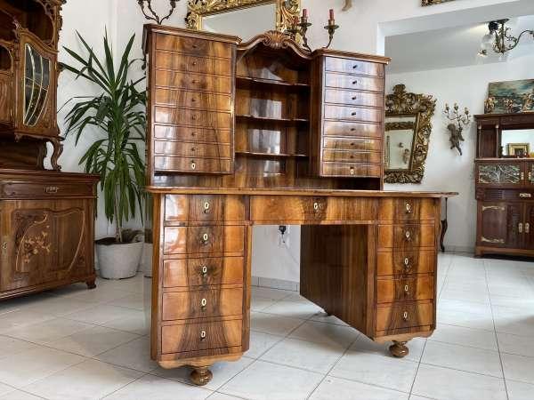 prächtiger Historismus Schreibtisch Altarschrank Sekretär Ladensekretär E1763