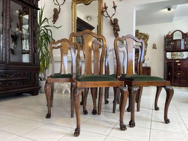 Ensemble hübscher Art DECO Sessel Stuhl Ritterstühle A2720