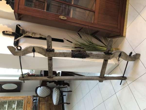 urige Garderobe Massivholzablage Ochsenjoch X2346