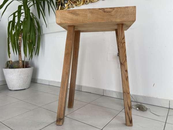 uriger Hacktisch Designer Tisch Bauerntisch Bauernmöbel E1971