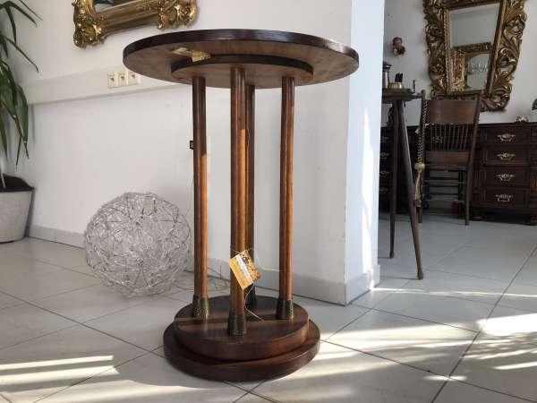 Jugendstil Tisch Beistelltisch Tischerl rund schwarz Z1407