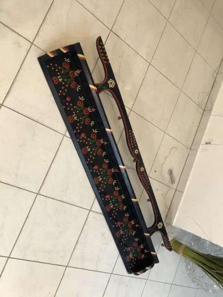 alte hand bemalte Stellage Bücherregal Tellerboard Bücherregal X1035