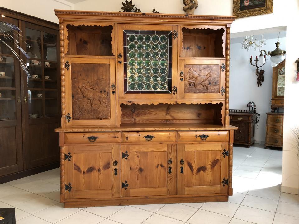 h bsche zirbenholz kredenz aufsatzkredenz k chenschrank buffet x1522 naturholzm bel. Black Bedroom Furniture Sets. Home Design Ideas