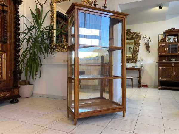restaurierte Biedermeier Vitrine Bücherschrank Glasschrank A2215