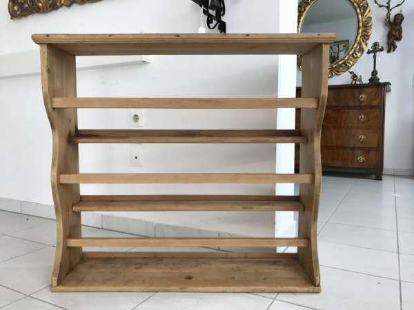 originales bäuerliches Regal Stellage Tellerboard Bord Naturholz W3063