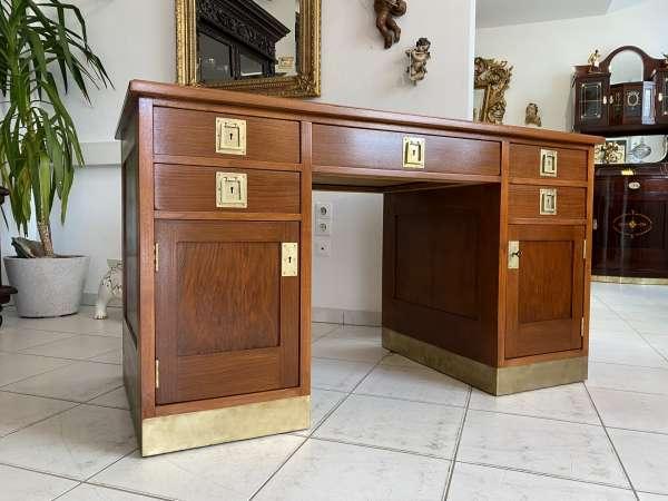 restaurierter Jugendstil Schreibtisch Sekretär Freisteher A2653