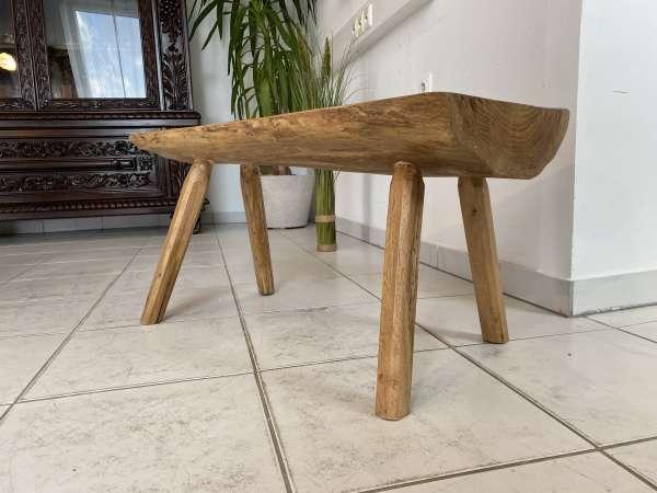 uriger Hacktisch Designer Tisch Bauerntisch Bauernmöbel Bank A2526
