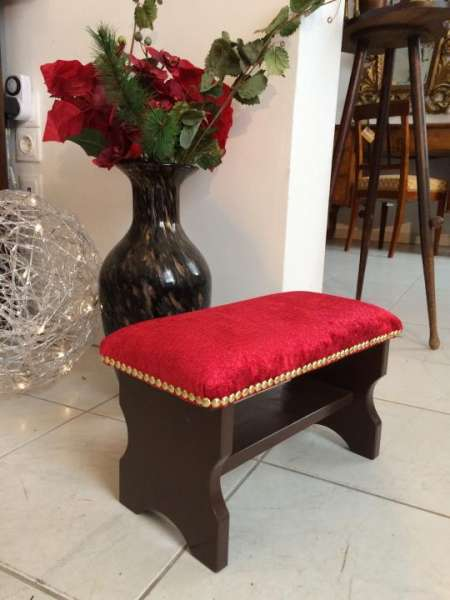 hübscher stilvoller Hocker Barockstil Sitzhocker Fusshocker Schemel - W1279