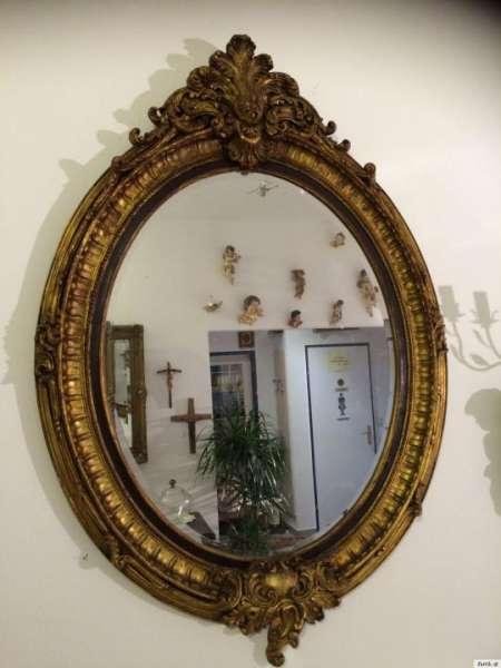 vergoldeter ovaler Florentiner Spiegel Krone Spiegel Traumstück Nr.8667