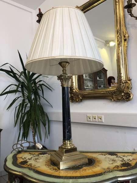 prunkvolle Stehlampe Stehleuchte korinthische Marmorsäule Z1483