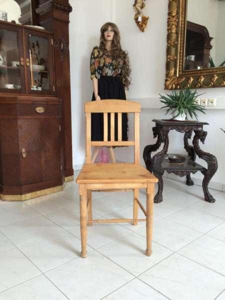 alter Bauernsessel Sessel Stuhl Fichtenholz Naturholz 9171