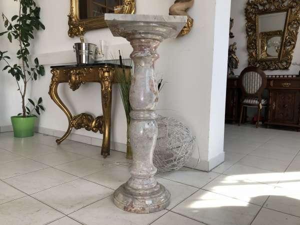 wunderschöne Marmor Postament Säule Podest X2110