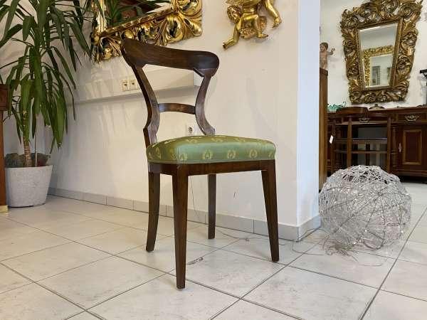 Biedermeier Sessel Nussholz Fledermaus Stuhl E2177